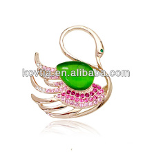 China wholesale brooch gold opal jewelry brooches elegant swan shape clothing accessories