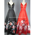 Mikado V Neck Ball Gown Prom Dress