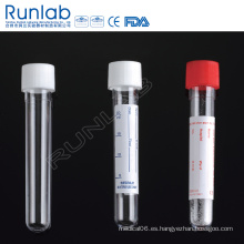Tubo de transporte redondo de muestra de 14 ml con tapa roscada