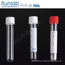Tubo de transporte de amostra redondo redondo de 14 ml com tampa de parafuso