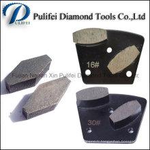 Segment de meulage de béton de diamant pour le meulage lisse de plancher de Terrazzo concret