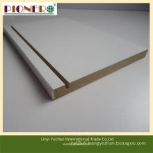 Hot Sale White Groove Melamine MDF Board for Office Desk