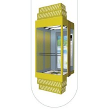 Square Type Panoramic Passenger Elevator with Glass Cabin