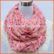 2014 new fashion accessory straight and polka dot scarf china factory