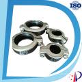 Acoplamento de aço inoxidável com braçadeira C para tubos e tubulações