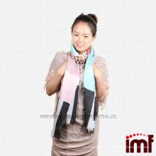 Шикарный дизайн Красивый легкий водорастворимый кашемировый шарф для девочки