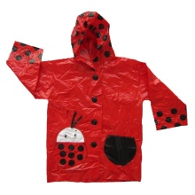 fashion pvc vinyl rain coat for kids