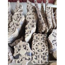 madeira anqitue esculpida onlays fabricação