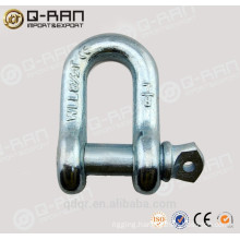 US type alloy steel galvanized G210 D type forged shackle