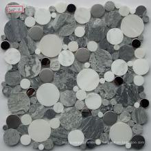 Галечная мраморная мозаика