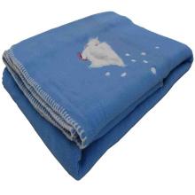 Cobertor de lã polar anti bolinha com bordado