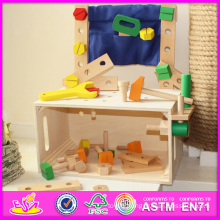 2014 New DIY Toy for Kids, Popular Wooden DIY Toy for Children, Hot Sale Wooden Toy Tool Set DIY Toy for Baby W03D033