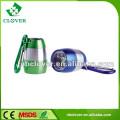 Interruptor de botão liga / desliga mini lanterna led de alumínio com mosquetão