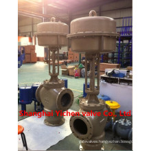 Three-Way Pneumatic Diaphragm Control Valve