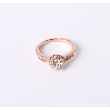 Simple Style Jewelry Ring with CZ and Rhinestones