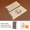 Custom size kraft paper bag for bread packing