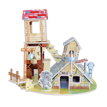 Quebra-cabeça 3D casa Animal