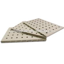 Panneau de ciment perforé de panneau acoustique