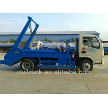 Hot selling Dongfeng mini 4000L swing arm garbage truck
