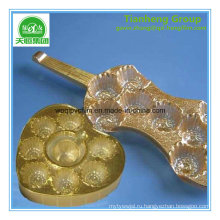 Термоформовочная Упаковка шоколада PVC твердые золото серебро пленка