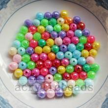 Colors fashion plating AB earth acrylic solid beads