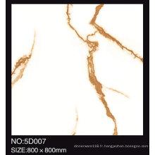 Carreaux de céramique de plancher de tuile de marbre blanc poli par jet d'encre poli par jet d'encre