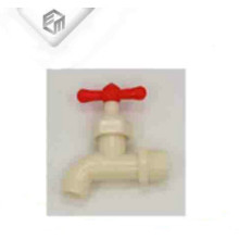 Weißer ABS roter Griff bibcock Plastikhahn