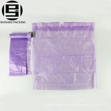 Переработке ПЭНД фиолетовый цвет шнурок мешки для мусора в рулоне