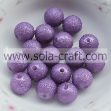 Factory Supply 8MM Purple Wrinkled Solid Glass Pearl Acrylic Beads Wholesalers