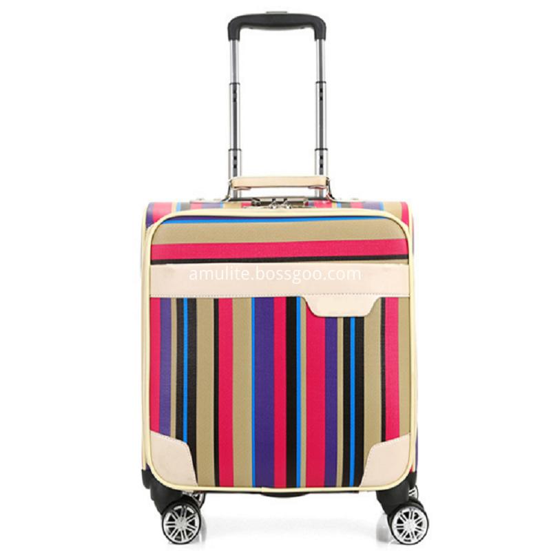 Fashion Woman Pu Leather Luggage Suitcase