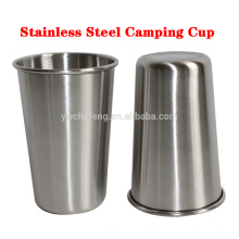 Smooth Edge Stainless Steel Cups,Multi-purpose 16 oz Pint Glasses,SS Metal Camping Cups Wine Jar