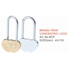 Heart Shape Brass Travel Padlock