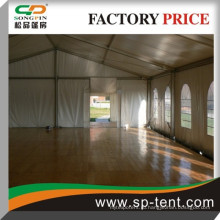 Палатка для небольших мероприятий 8x20м в алюминии для наружного мероприятия с системой деревянного пола