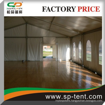 small event tent 8x20m in aluminum for outdoor event with wooden floor system