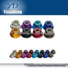 M5 aluminum colored flange lock nut