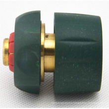 "3/4"" click-on garden quick Connector with water stop"