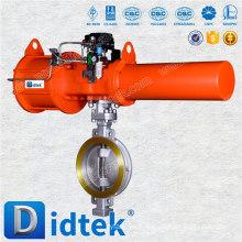 Válvula de mariposa neumática Triple Offset Didtek