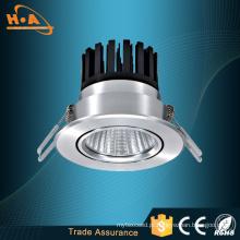 COB 15W alta qualidade lâmpada de teto de alumínio