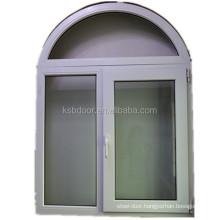 Foshan supplier fenetre en pvc arch window upvc window