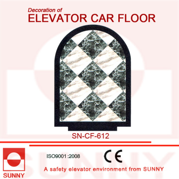 Plancher de Mable-Line pour la décoration du plancher de voiture d'ascenseur (SN-CF-612)