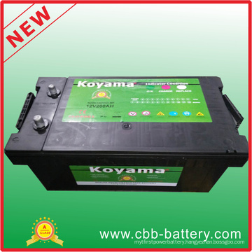 Extra Safety Mf 12V200ah Portable Car Starter Battery, Maintenance Free N200 Car Battery, Rechargeable Battery