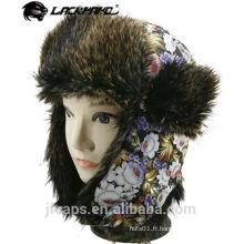 Chapeau de trappeur de chapeau d'hiver en fourrure synthétique pour dames