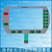 Flat flexible PET membrane switch with metal domes
