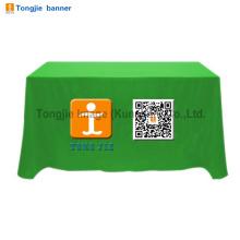 Capa de mesa de banner de publicidade, toalha de mesa