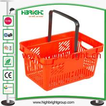 Tienda de comestibles al por mayor Nueva cesta de mano portátil de plástico