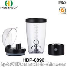 Bouteille de vortex en plastique automatique électrique de 450ml, bouteille libre de BPA de secousse de batterie (HDP-0896)