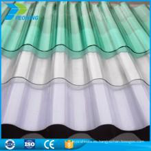 Fácil instalación de toldo de lona corrugada hoja de plástico toldo precio barato