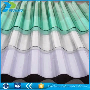 High Strength Polycarbonate UV coating pc corrugated transparent roofing sheet