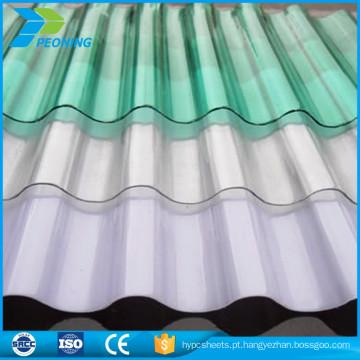 matéria-prima preço barato folha de telhado de pc ondulado