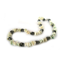 Hematite Pearl-Shell necklace